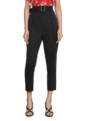 BCBG Max Azria Single Pleated High-Waist Pants