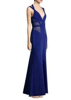 BCBG Max Azria Sleeveless Lace Gown