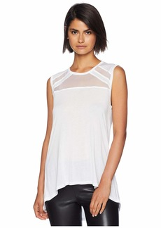BCBG Max Azria Sleeveless Top with Tulle Insert