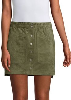BCBG Max Azria Faux-Suede Mini Skirt