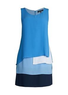 BCBG Max Azria Solid Layered-Hem Dress