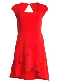 BCBG Max Azria Squareneck Ruffle Hem Dress
