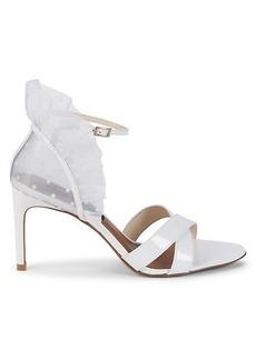 BCBG Max Azria Stella Leather Heeled Sandals