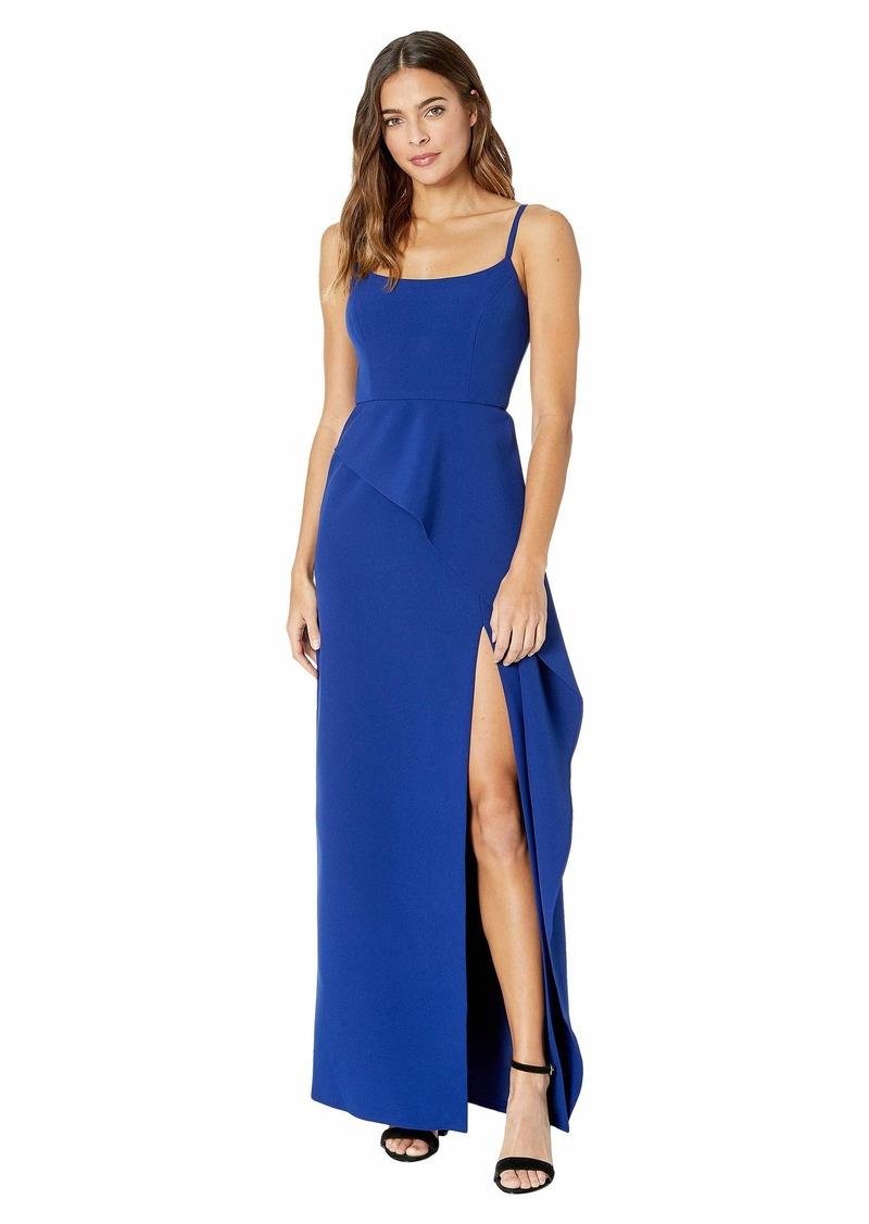 "BCBG Max Azria ""Steluh"" Gown with Asymmetrical Peplum"