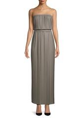 BCBG Max Azria Strapless Pleated Maxi Dress