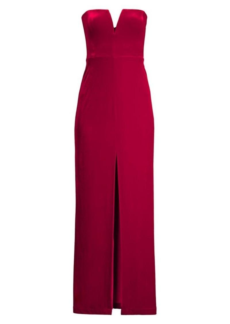BCBG Max Azria Strapless Velvet Gown