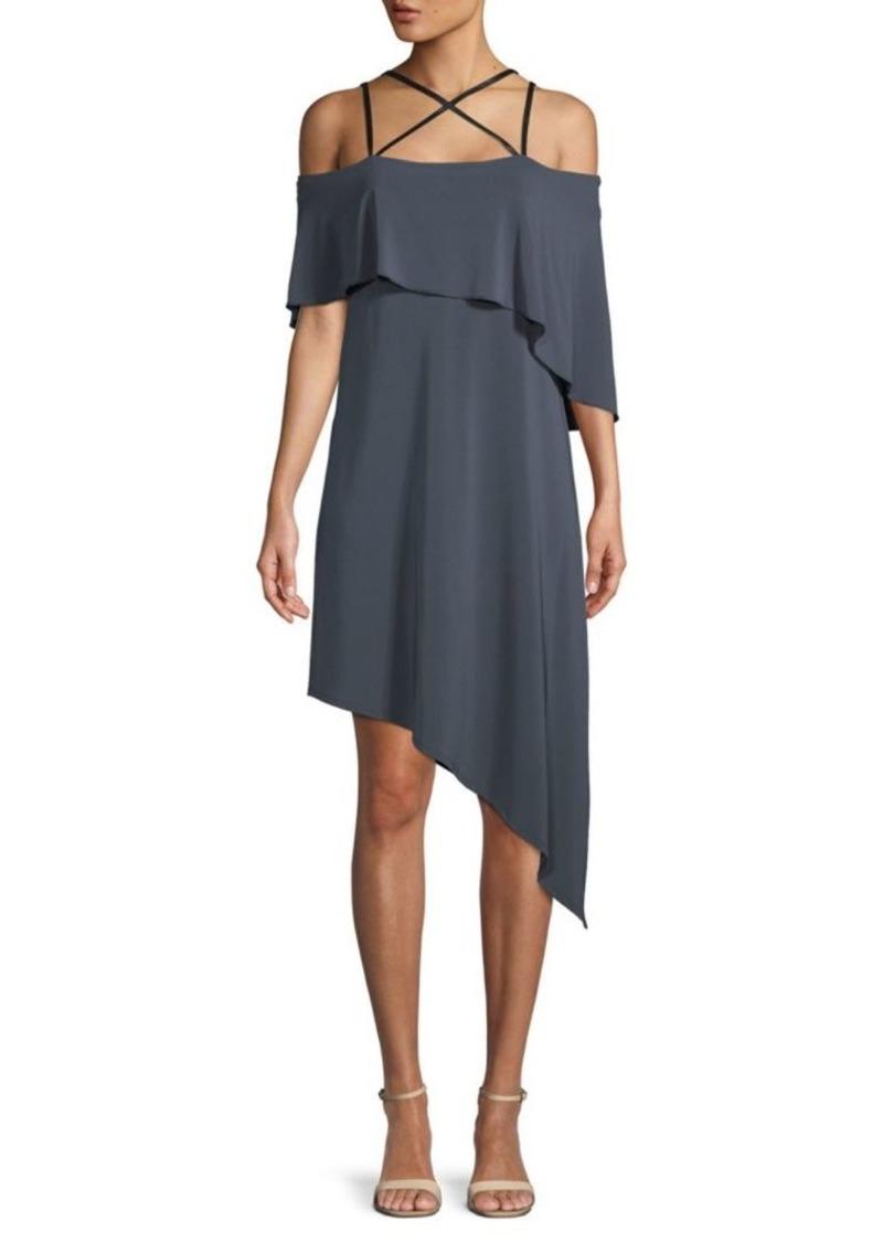 BCBG Max Azria Strappy Asymmetrical Dress