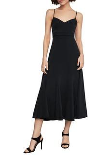 BCBG Max Azria Strappy Midi Fit-&-Flare Dress