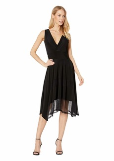 BCBG Max Azria Stretch Lace Asymmetrical Hem Dress