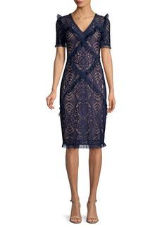 BCBG Max Azria Stretch Lace Sheath Dress