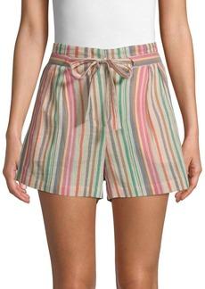 BCBG Max Azria Stripe-Print Cotton Shorts
