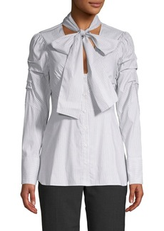 BCBG Max Azria Striped Bow Top