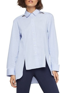 BCBG Max Azria Striped High-Low Shirt