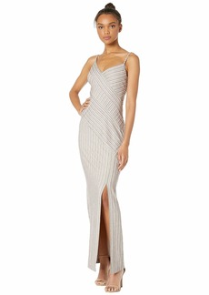 BCBG Max Azria Striped Knit Maxi Dress