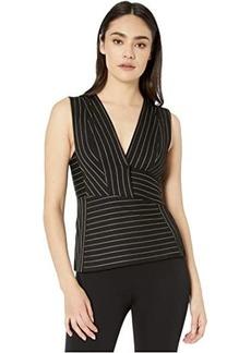 BCBG Max Azria Striped Knit Top