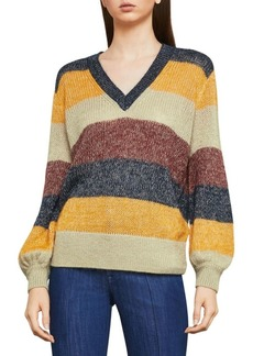 BCBG Max Azria Striped Long-Sleeve Sweater