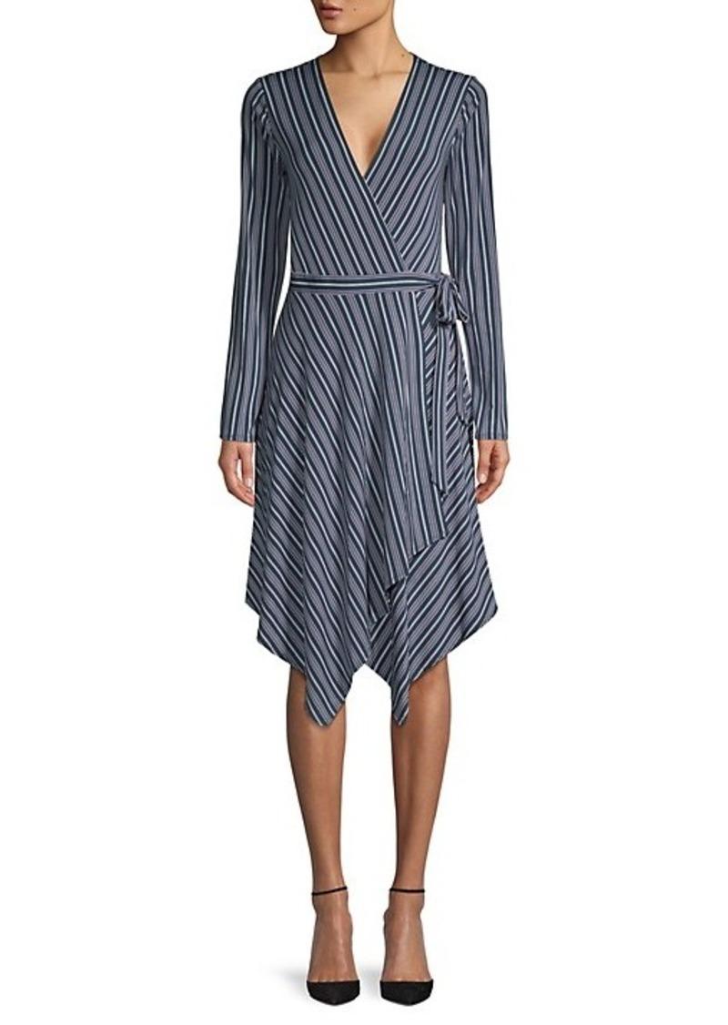 BCBG Max Azria Striped Wrap Dress