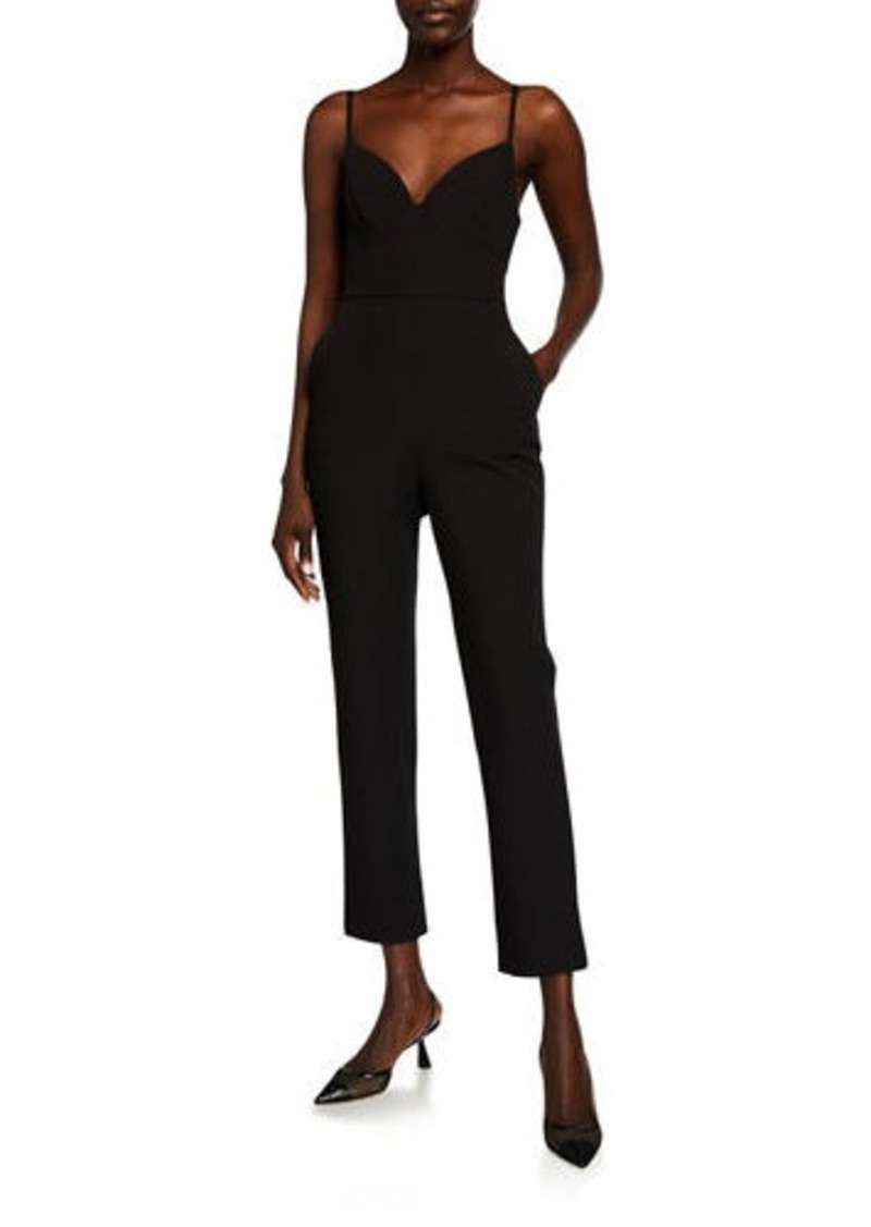BCBG Max Azria Tailored Sweetheart Open-Back Jumpsuit