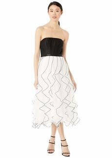 BCBG Max Azria Tea Length Tulle Skirt Dress