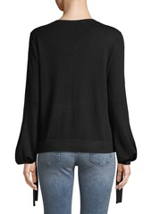 BCBG Max Azria Tie-Detail Long-Sleeve Pullover Sweater