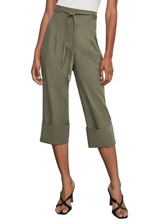 BCBG Max Azria Tie-Front Cuffed Cropped Pants