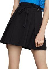 BCBG Max Azria Tie-Front Linen & Cotton Blend Mini Skirt