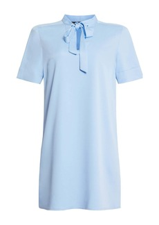 BCBG Max Azria Tie Neck Shift Dress