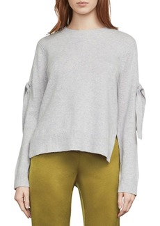 BCBG Max Azria Tie-Sleeve Cold-Shoulder Sweater