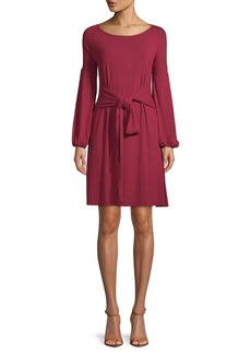 BCBG Max Azria Tie-Waist Shift Dress