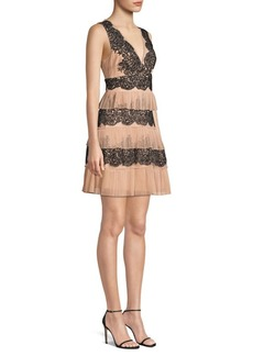 BCBG Max Azria Tiered Lace Dress