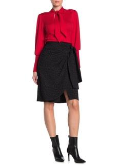 BCBG Max Azria Tonal Cheetah Print Wrap Skirt