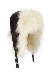 BCBG Max Azria Trapper Hat w/ Faux Fur