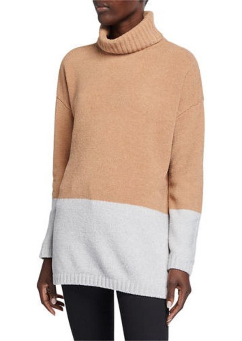 BCBG Max Azria Turtle Neck Colorblock Sweater