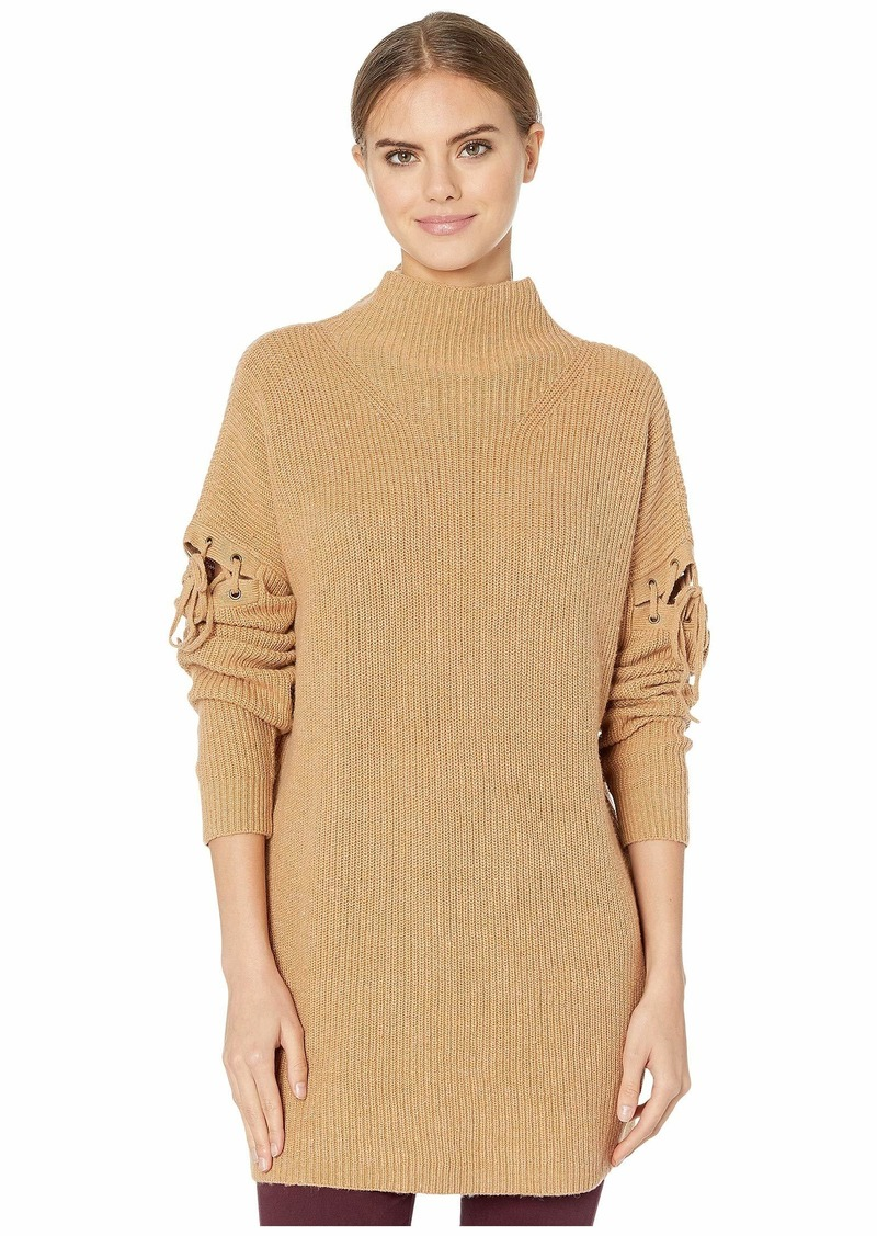 BCBG Max Azria Turtleneck Sweater with Lace-Up Detail