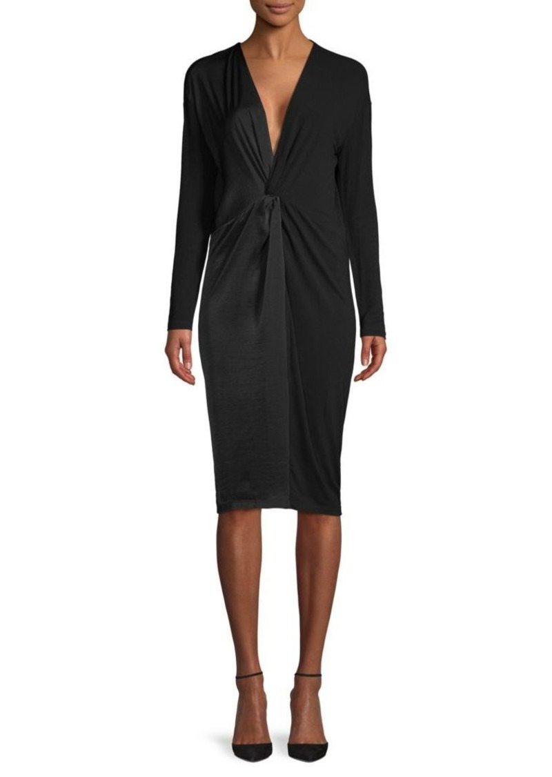 BCBG Max Azria Twist-Front Knit Dress