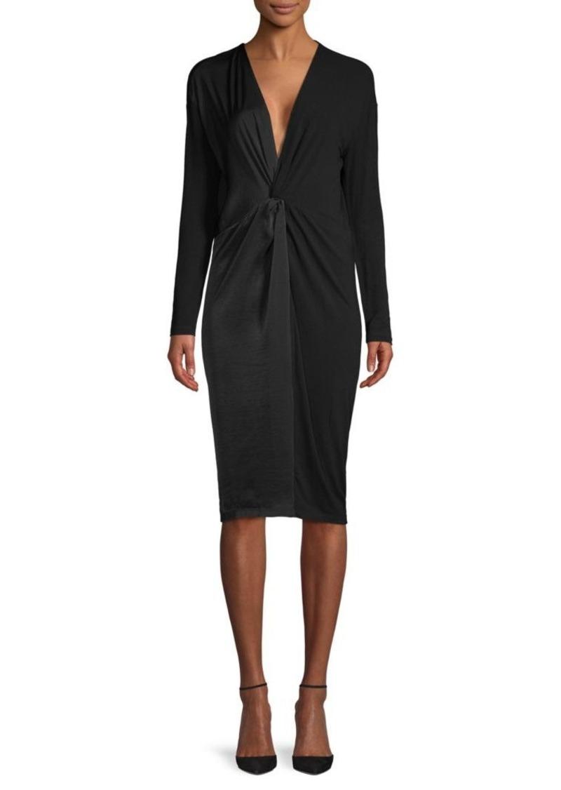 BCBG Max Azria Twist-Front Knit Dress