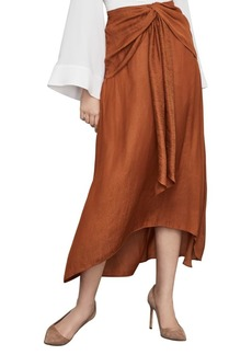 BCBG Max Azria Twist-Front Midi Skirt