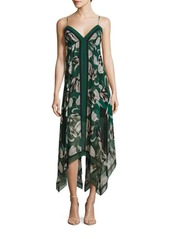BCBG Max Azria Urban Jungle Isabela Asymmetrical Floral Dress