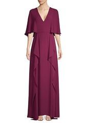 BCBG Max Azria V-Neck Flounce Maxi Dress
