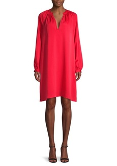 BCBG Max Azria V-Neck Mini Shift Dress