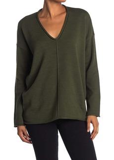 BCBG Max Azria V-Neck Rolled Trim Sweater