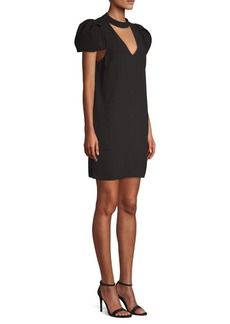 BCBG Max Azria Choker Puff Sleeve Dress