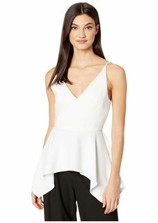 BCBG Max Azria V-Neck Sleeveless Woven Top