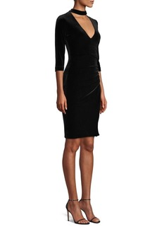 BCBG Max Azria Velvet Cutout Cocktail Dress
