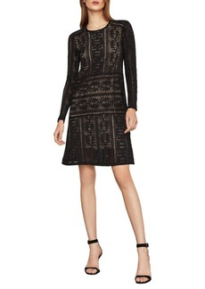 BCBG Max Azria Waving Vines Lace A-Line Dress