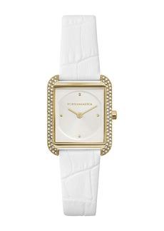 BCBG Max Azria Women's Classic Japanese-Quartz Watch with Leather Strap, 25.5mm