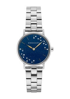 BCBG Max Azria Women's Mineral Crystallized Blue Stainless Steel Watch, 32mm