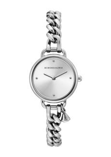 BCBG Max Azria Women's Stainless Steel Charm Bracelet Watch, 24mm
