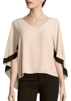 BCBG Max Azria Woven Butterfly Sleeve Top