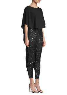 BCBG Max Azria Woven Embellished Jumpsuit